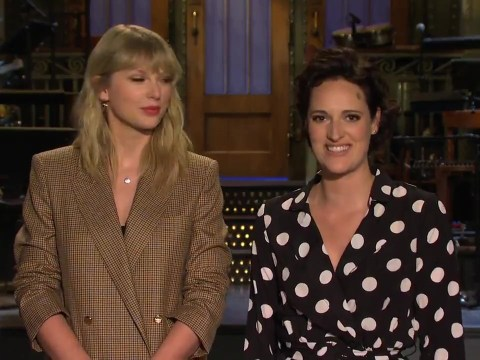 Taylor Swift attempts her best British accent alongside Phoebe Waller-Bridge on SNL