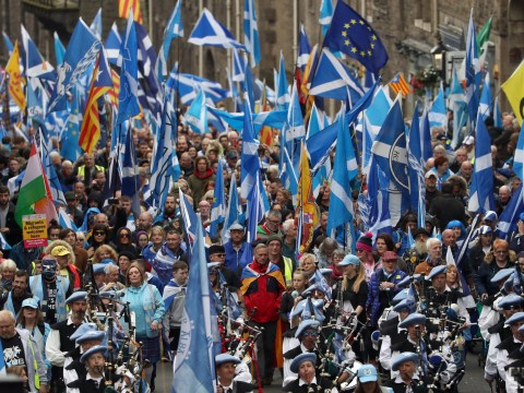 Thousands demand Scottish independence as they march through Edinburgh
