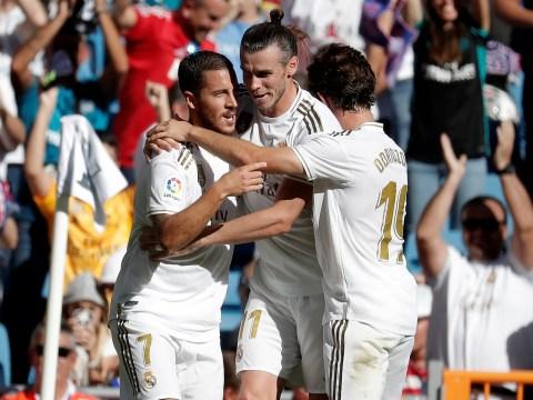 Zinedine Zidane sends message to Eden Hazard after Chelsea hero scores first Real Madrid goal