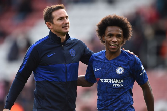 Frank Lampard says Willian is an excellent example for Chelsea's young players