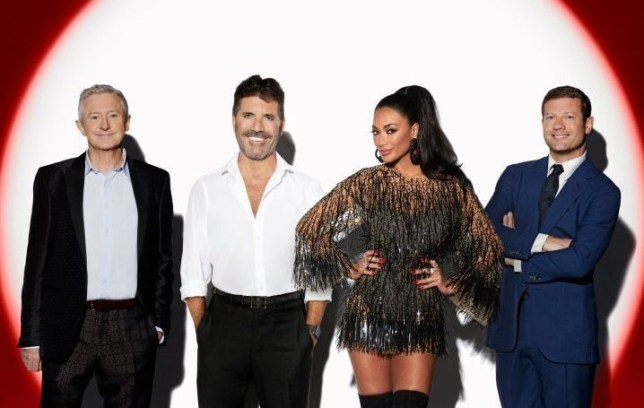 Louis Walsh, Simon Cowell, Nicole Scherzinger and Dermot O'Leary on The X Factor: Celebrity