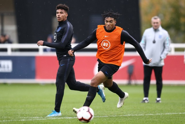 Editorial Use Only Mandatory Credit: Photo by Michael Zemanek for The FA/REX (10438669l) Reece James of England U-21's England Men's U21 Football Team Camp, St. George's Park National Football Centre, Burton upon Trent, UK - 07 Oct 2019