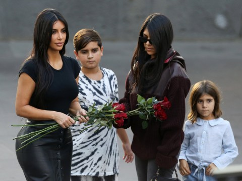 Kim and Kourtney Kardashian pay respects at homeland Armenian Genocide Memorial