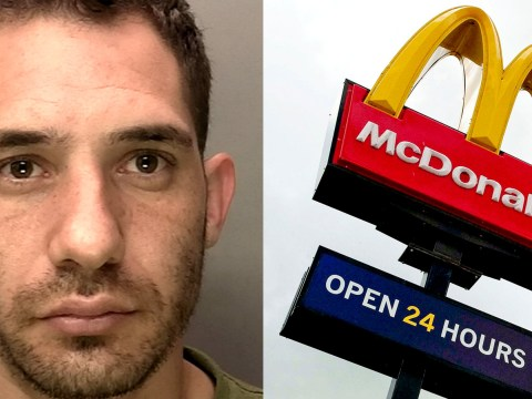 Armed robber had to buy McDonalds cheeseburger before he could flee with takings