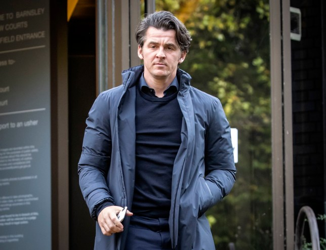 Joey Barton leaves Barnsley Magistrates Court, where he faced charges over allegedly attacking a rival manager. PA Photo. Picture date: Wednesday October 9, 2019. Fleetwood Town boss Barton, 37, is charged with causing actual bodily harm to then Barnsley manager Daniel Stendel in April 2019. See PA story COURTS Barton. Photo credit should read: Danny Lawson/PA Wire