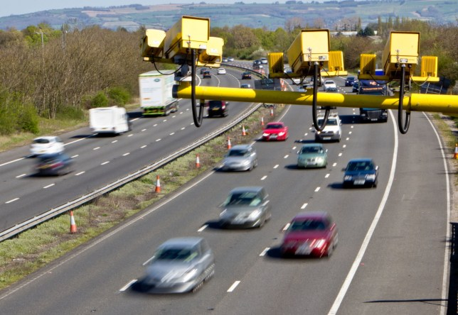 Average Speed Cameras installed on UK Motorways measure and calculate the Vehicles average speed through sections of Motorway.