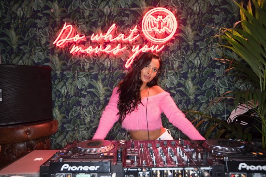 EDITORIAL USE ONLY Maya Jama DJs at the launch of the BACARD?? Rum Room during London Cocktail Week to launch BACARD?? Gran Reserva Diez, at Truman Brewery in London. PRESS ASSOCIATION Photo. Picture date: Wednesday October 9, 2019. BACARD?? Gran Reserva Diez is a brand new premium sipping rum that???s been barrel-aged for a minimum of ten years under the Caribbean sun. Photo credit should read: David Parry/PA Wire