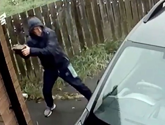 HILARIOUS video shows the moment a man throws a brick at a car window, but falls victim to instant karma when it ricochets off and clips his face. Martin Craig's home CCTV footage captured the moment which shows the man trying to break into his car. However, his plan fails miserably as the brick bounces back and catches him in the face. The man is then seen fleeing Martin's home, who is in a wheelchair, in Brandon, Durham on Saturday morning. Martin uploaded the footage to Facebook where it has racked up more than 5,000 views.