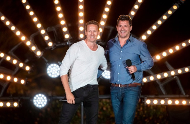 Strict Embargo - not to be published before 00:01 Friday 11th October 2019. Editorial use only. No book publishing. Mandatory Credit: Photo by Dymond/Thames/Syco/REX (10440676k) Brendan Cole and Jeremy Edwards 'The X Factor: Celebrity' TV show, Series 1, Episode 1 - 12 Oct 2019