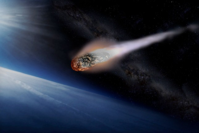 Artist's impression of an asteroid entering Earth's atmosphere (Image: Getty)