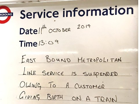 Metropolitan Line suspended after mum gives birth on train