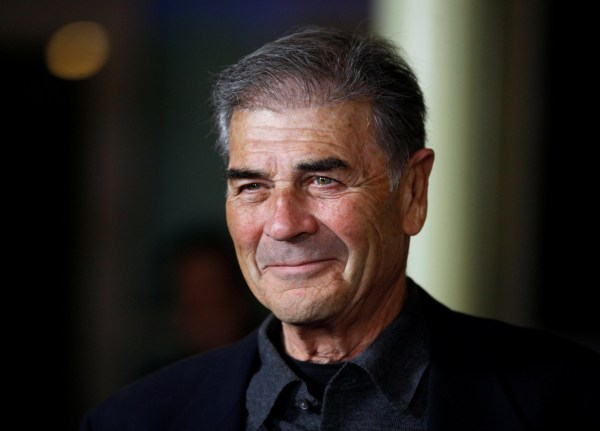 """FILE PHOTO:Actor Robert Forster poses at the premiere of his film """"Girl Walks Into A Bar"""" in Hollywood, California March 7, 2011. The feature length film was created exclusively for Web distribution and premieres on YouTube March 11. REUTERS/Fred Prouser/File photo (UNITED STATES - Tags: ENTERTAINMENT HEADSHOT)"""