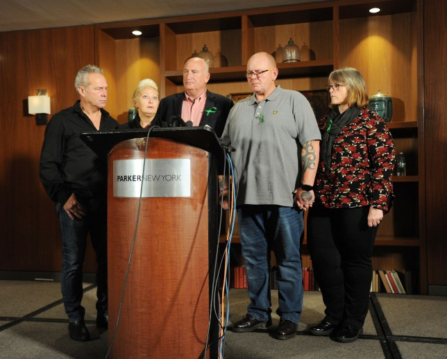Harry Dunn Family hold press conference in New York City Parker Hotel. Parents Charlotte Charles and her ex husband Tim Dunn hold a press conference over their sons death in the UK.