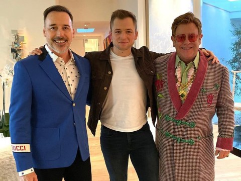 Rocketman reunion as Elton John hangs out with Taron Egerton on his birthday