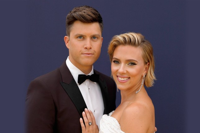 FILE - 19 MAY 2019: Actress Scarlett Johansson and Saturday Night Live Regular Colin Jost are reportedly engaged to be married after two years dating. LOS ANGELES, CA - SEPTEMBER 17: 70th ANNUAL PRIMETIME EMMY AWARDS -- Pictured: Host Colin Jost and actor Scarlett Johansson arrive to the 70th Annual Primetime Emmy Awards held at the Microsoft Theater on September 17, 2018. NUP_184217 (Photo by Trae Patton/NBC/NBCU Photo Bank via Getty Images)