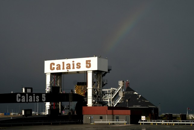 CALAIS, FRANCE - OCTOBER 17: A view of the docks at the Calais border Ferries arrival on October 17, 2019 in Calais, France. Today the British Prime Minister Boris Johnson and the President of the European Commission Jean-Claude Juncker agreed on a Brexit deal just before the European Summit held in Brussels. This deal has now to be approved by the European Council and by the British Parliament. A deadline for a Brexit deal is October 31st. (Photo by Aurelien Meunier/Getty Images)