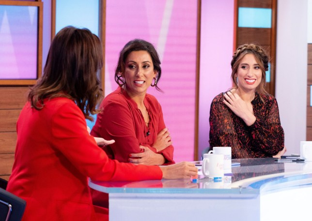 Editorial use only Mandatory Credit: Photo by Ken McKay/ITV/REX (10449467r) Andrea McLean, Saira Khan, Stacey Solomon, 'Loose Women' TV show, London, UK - 18 Oct 2019