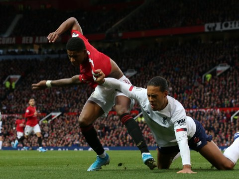 Manchester United fans love Marcus Rashford 'bullying' Virgil van Dijk during Liverpool clash
