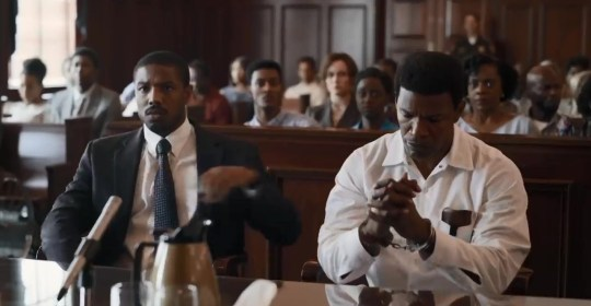 Michael B Jordan in Just Mercy and feeling the 'responsibility' Picture: Warner Bros. METROGRAB taken from trailer via YouTube