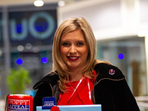 Pregnant Rachel Riley goes 'undercover' as Poppy Appeal collector to celebrate 100 years of Royal British Legion