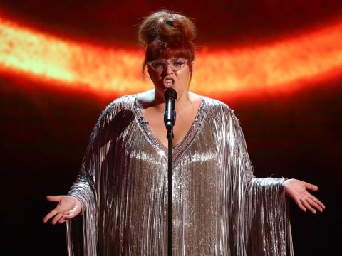 What's the name of the band Jenny Ryan is in as she wows X Factor: Celebrity?