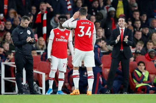 Granit Xhaka hit back at booing Arsenal fans as he left the pitch against Crystal Palace