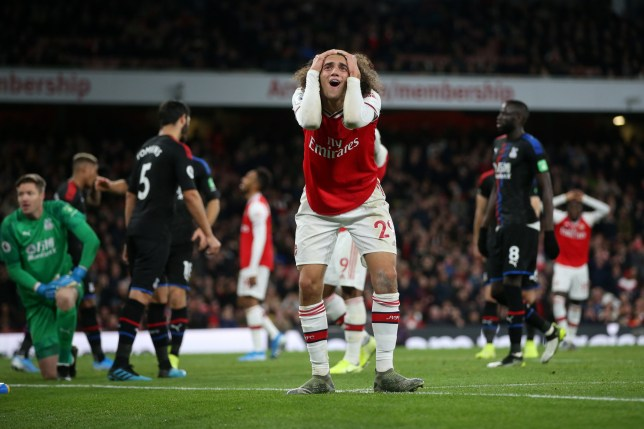 Matteo Guendouzi and Arsenal were denied a win against Crystal Palace