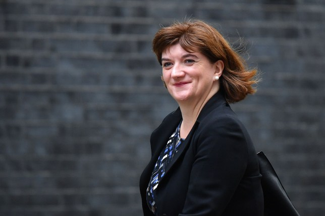 Britain's Culture Secretary Nicky Morgan arrives in Downing street in London for the weekly cabinet meeting on October 29, 2019. - British Prime Minister Boris Johnson is expected to make a fresh attempt today to force an early election, despite MPS rejecting his plan, after the European Union agreed to postpone Brexit for up to three months. (Photo by DANIEL LEAL-OLIVAS / AFP) (Photo by DANIEL LEAL-OLIVAS/AFP via Getty Images)