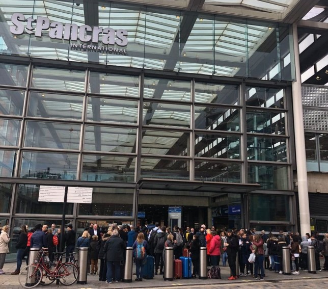 Jose Casal @jose_casal ? 24m #St Pancras International (#STP) in #London being evacuated at the moment. TAKEN WITHOUT PERMISSION