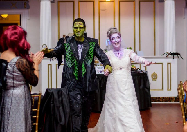 A Halloween-mad couple took their obsession to the next level by making it the theme of their wedding