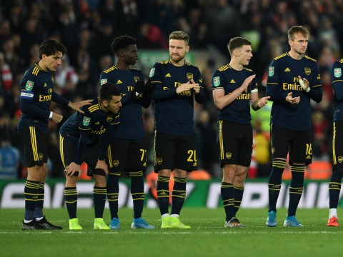 Kieran Tierney stops Arsenal players from walking straight down tunnel after Liverpool defeat