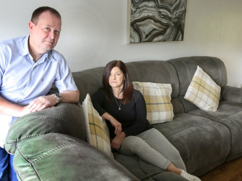 Couple furious after grey sofa turns green – and they've been refused a refund