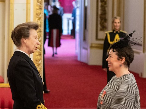 Acting royalty Olivia Colman awarded CBE from actual royalty, Princess Anne