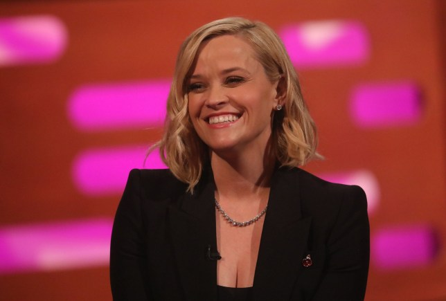Reese Witherspoon during the filming for the Graham Norton Show at BBC Studioworks 6 Television Centre, Wood Lane, London, to be aired on BBC One on Friday evening. PA Photo. Picture date: Thursday October 31, 2019. Photo credit should read: PA Images on behalf of So TV