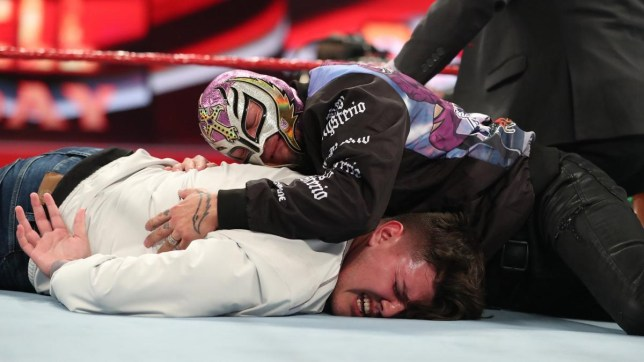Mysterio and Dominik (Picture: WWE)