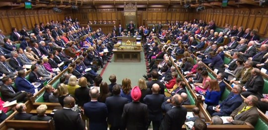 "A video grab from footage broadcast by the UK Parliament's Parliamentary Recording Unit (PRU) shows the House of Commons in London on October 17, 2018 during the weekly question and answer session, Prime Minister's Questions (PMQs). - May is set to travel to Brussels later in the day to address EU leaders at a crucial summit. (Photo by HO / PRU / AFP) / RESTRICTED TO EDITORIAL USE - NO USE FOR ENTERTAINMENT, SATIRICAL, ADVERTISING PURPOSES - MANDATORY CREDIT "" AFP PHOTO / PRU ""HO/AFP/Getty Images"