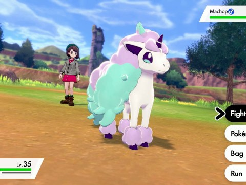 Galarian Ponyta is Pokémon Shield exclusive, equivalent to Sirfetch'd