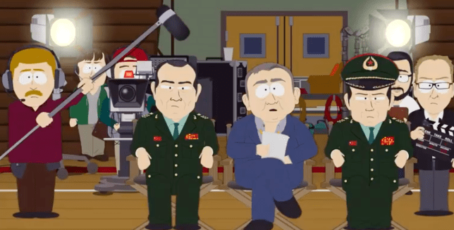 A still from South Park episode Band In China