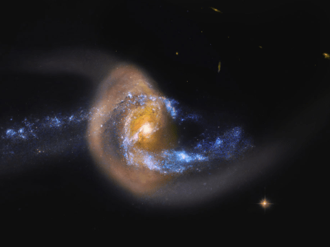 Nasa saw two galaxies colliding and it's an ominous portent of the Milky Way's future