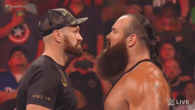 Tyson Fury taunts Braun Strowman after mass brawl at WWE Raw