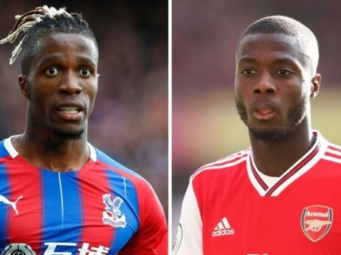 Wilfried Zaha sends message to Nicolas Pepe after poor start at Arsenal