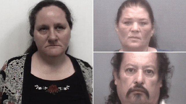 Mugshots of Alice Todd, Tina Chavis and Vicencio Romero