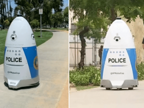 Police robot told woman to go away after she tried to report crime – then sang a song