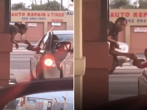 Chatterbox drive-thru worker has huge row with hungry customers waiting in line