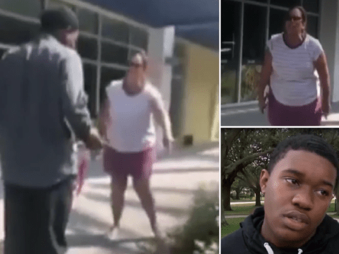 Racist woman calls teen 'n*****' and orders him 'down on his knees' for dropping gum wrapper