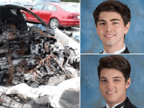 Dad sues Tesla after teens died in fiery crash while driving at 116mph