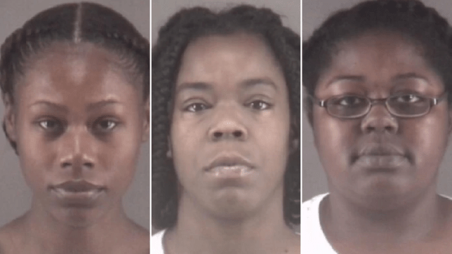 Mugshots of (from left) Tonacia Tyson, Marilyn McKey and Taneshia Jordan
