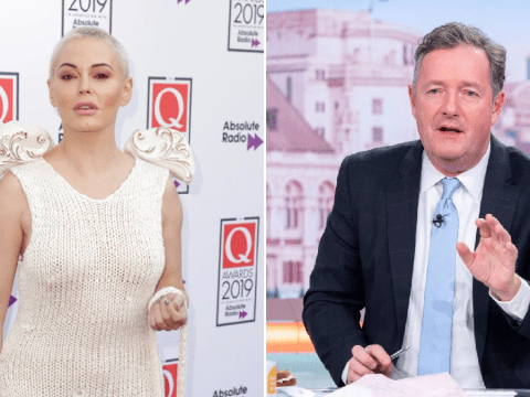Rose McGowan brands Piers Morgan 'dense and archaic' as he takes break from GMB