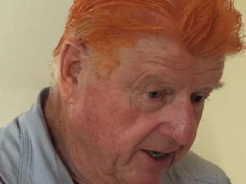 Stanley Johnson dyes hair bright orange in unbelievable Celebrity Hunted moment