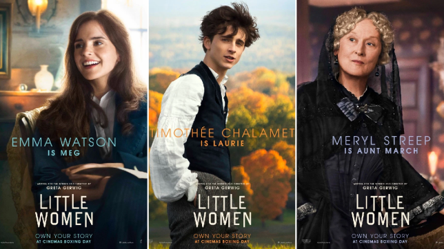 Emma Watson, Timothée Chalamet and Meryl Streep in Little Women